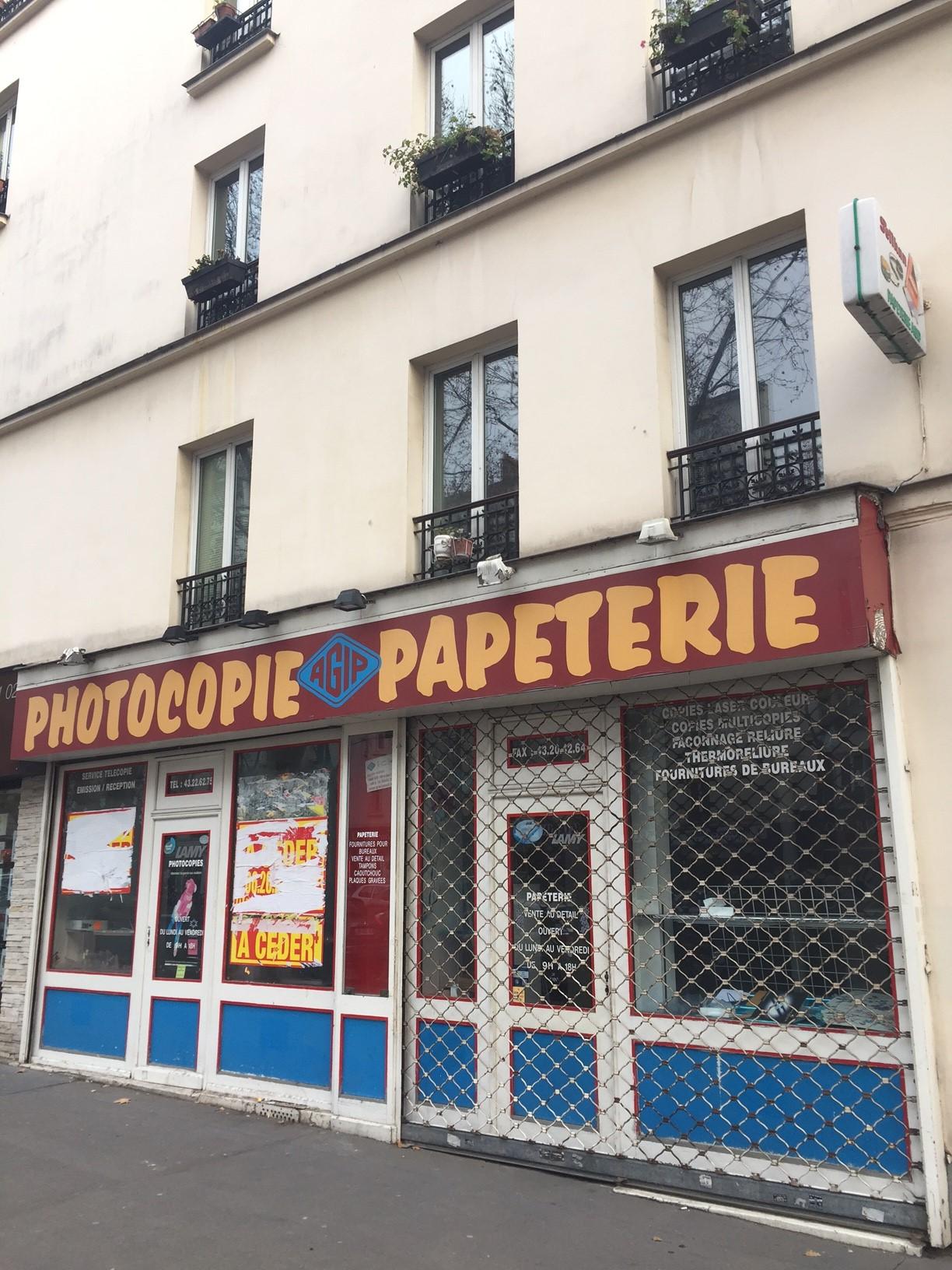 Paris 14 eme local commercial 68 m avenue du maine for Garage avenue du maine